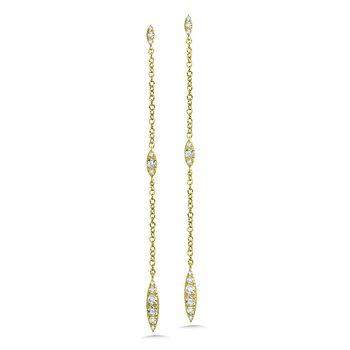 14KY Diamond Dangle Earrings w/ 0.33 ctw