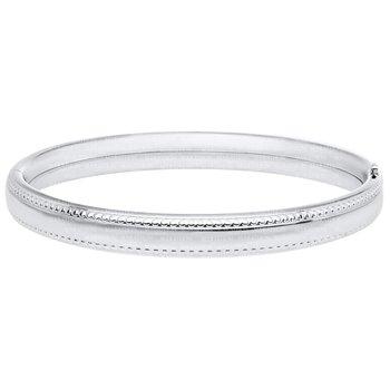 Sterling Silver Beaded Edge Baby Bracelet