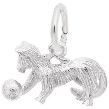 Sterling Silver Cat Playing With Ball