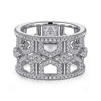 14KW Diamond Fashion Ring w/ 1.11 ctw Size 6.5