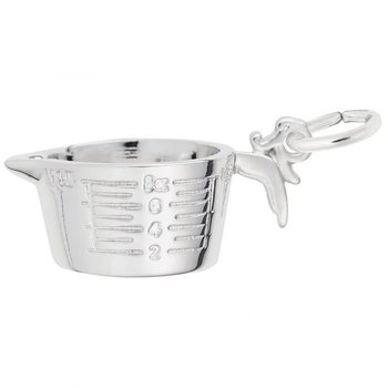 Sterling Silver Measuring Cup Charm