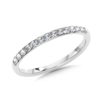 14KW Diamond Band w/ 0.14 ctw, Size 7
