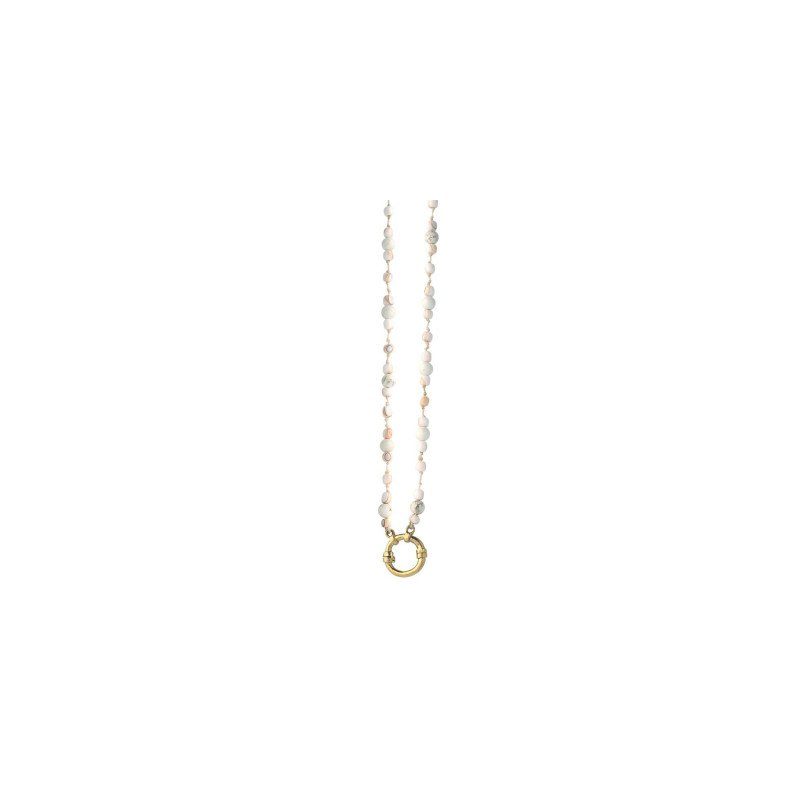 """Waxing Poetic Brass Higher Ground Strand Shell Necklace, 28"""" Chain"""