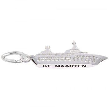 Sterling Silver ST. Marten Cruise Ship