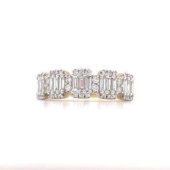 14KY Diamond Ring w/ 0.75 ctw, Size 7