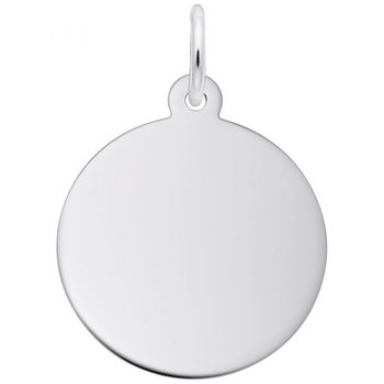 Sterling Silver Disc Classic Charm