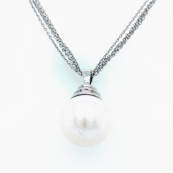 Sterling Silver 13 --14 mm Windsor 5 Strand Beehive Freshwater Pearl Pendant