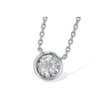 14KW Diamond Necklace w/ 0.24 ctw