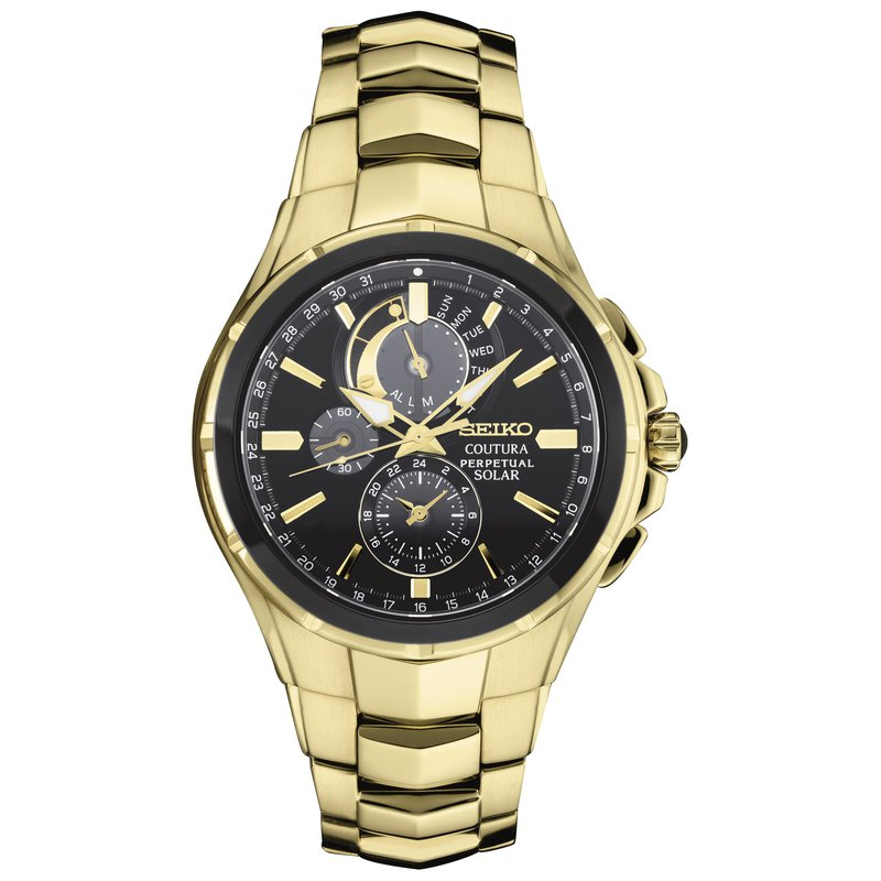 Seiko Watches In Stock Stainless Steel Men's Watch Gold