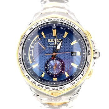 Stainless Steel Two-Tone Solar Men's Watch