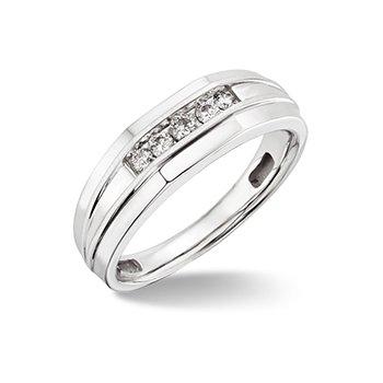 10KW Diamond Wedding Band w/ 0.25 ctw, Size 10
