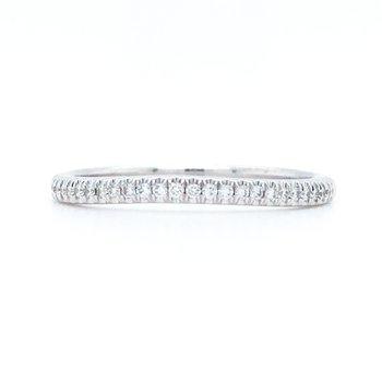 14KW Wedding Band w/ 0.12 ctw Round Diamonds