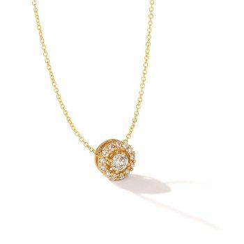 "14KY Diamond Pendant w/ 0.52 ctw, 18"" Chain"