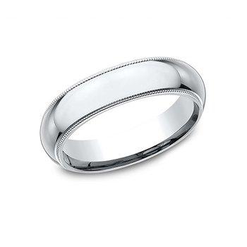 14KW 5 mm Comfort Fit Milgrain Band, Size 10
