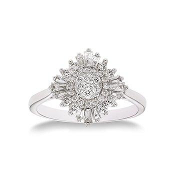 14KW Diamond Ballerina Semi-Mount Ring w/ 0.50 ctw, Size 7