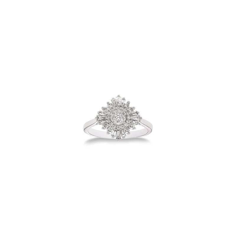 Green Brothers Collection 14KW Diamond Ballerina Semi-Mount Ring w/ 0.50 ctw, Size 7