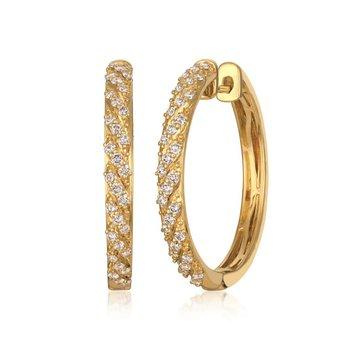 14KY Nude Diamond Earrings w/ 0.75 ctw