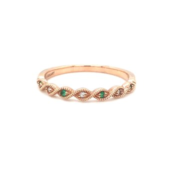 10 KR Emerald Stackable Ring