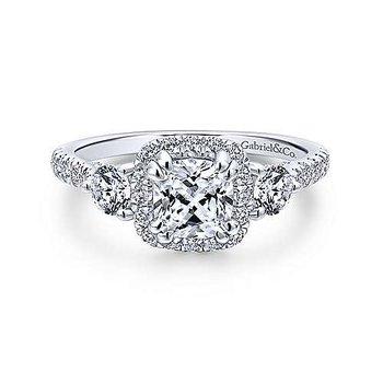 14KW Diamond Semi-Mount Engagement Ring w/ 0.90 CTW Size 6.5