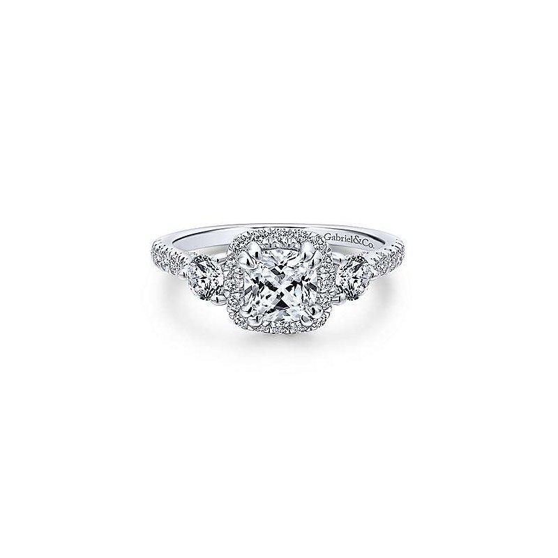 Gabriel & Co. 14KW Diamond Semi-Mount Engagement Ring w/ 0.90 CTW Size 6.5