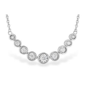 "14KW Diamond 9 Stoner Necklace w/ 0.25 ctw, 18"" Chain"