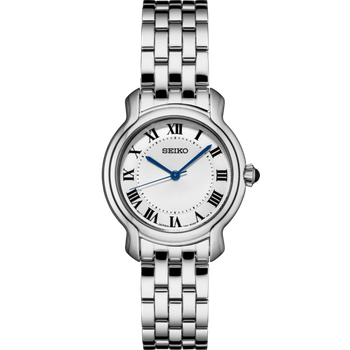 Stainless Steel Watch w/ White Face