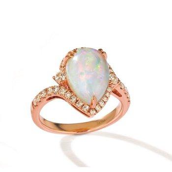14KR Opal & Diamond Fashion Ring w/ 0.57 ctw Dia. & 2.25 ctw Opal, Size 7