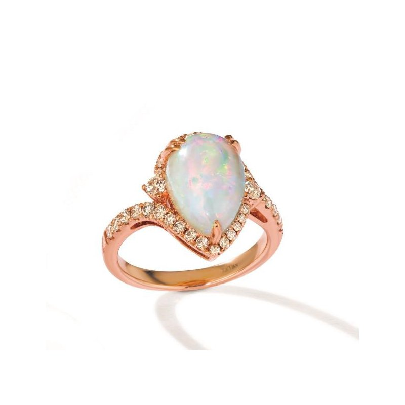 Le Vian In Stock 14KR Opal & Diamond Fashion Ring w/ 0.57 ctw Dia. & 2.25 ctw Opal, Size 7