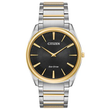 Stainless Steel Two Tone Stiletto Eco-Drive Watch
