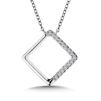 14KW Diamond Pendant w/ 0.06 ctw