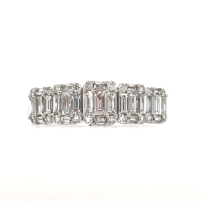 Green Brothers Collection 14KW Diamond Baguette Ring w/ 1.0 ctw
