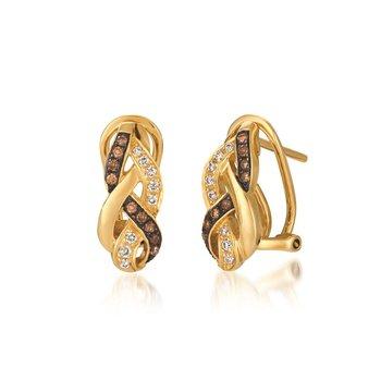 14KY Diamond Earrings w/ 0.26 ctw