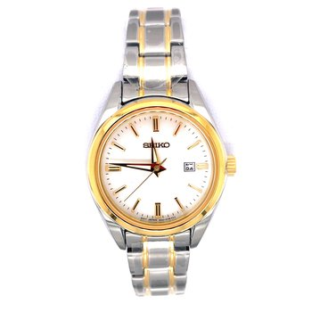 Stainless Steel Ladies Two-Tone Watch