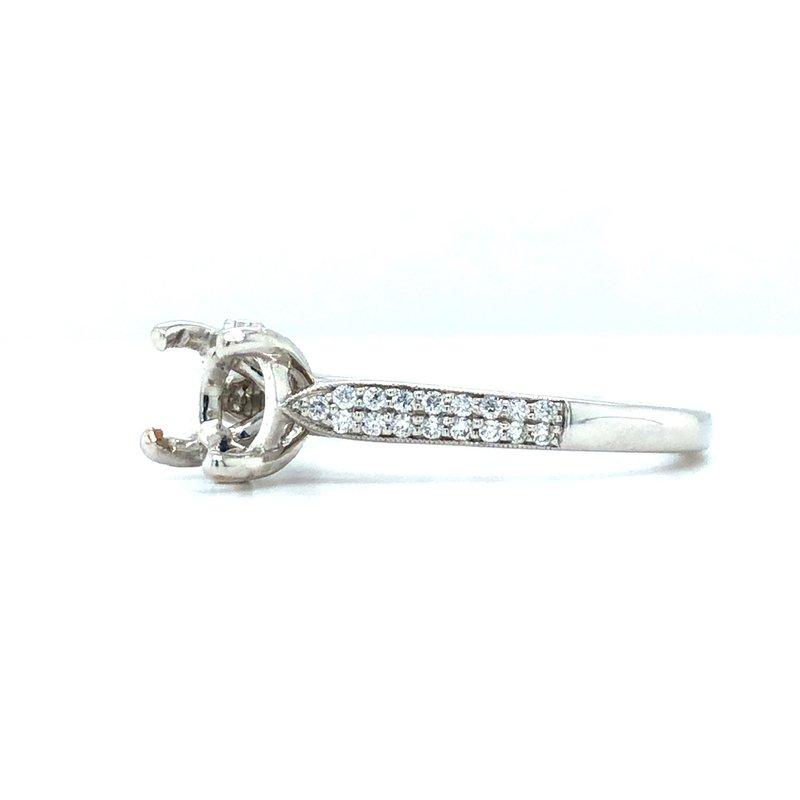Coast Diamond 14KW Diamond Engagement Semi-Mount Ring, w/ 0.14 ctw, Size 6.75
