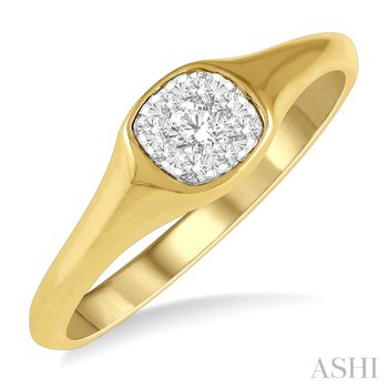 """14KY """"Lovebright"""" Diamond Promise Ring w/ 0.15 ctw, Size 6.5"""