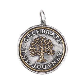 Sterling Silver & Brass Celebrate the Journey Pendant