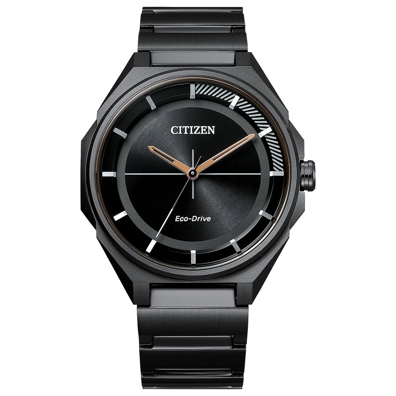 Citizen Watches in Stock Stainless Steel Black Tone Eco-Drive Watch w/ Black Face