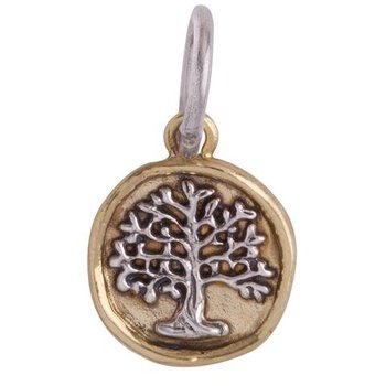 Sterling Silver & Brass Tree Of Life Charm
