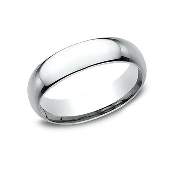 14KW 6 mm Comfort Fit Polished Band, Size 8