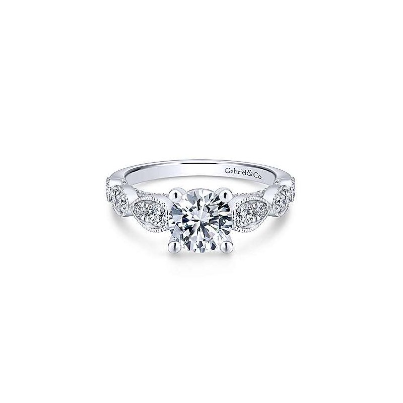 Gabriel & Co. 14KW Diamond Semi-Mount Engagement Ring w/ 0.50 CTW Size 6.5