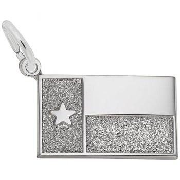 Sterling Silver Texas Flag Charm