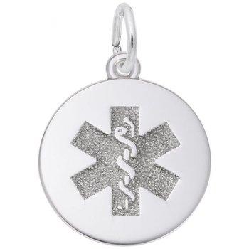 Sterling Silver Medical Sign Disk