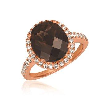 14KRG Chocolate & Nude Diamond Ring w/ 9.25 ctw, Size 7