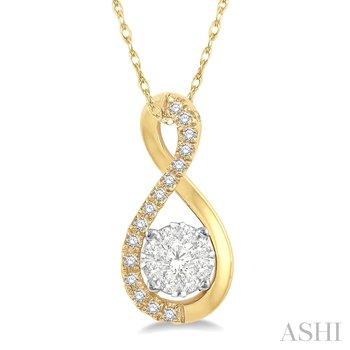 "14KY Lovebright Diamond Pendant w/ 0.20 ctw 18"" Chain"