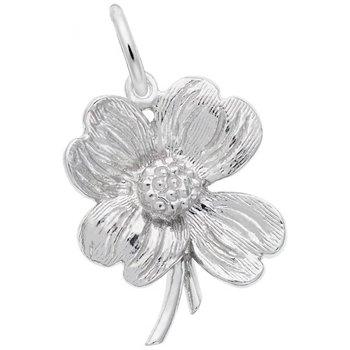 Sterling Silver Dogwood Flower Charm