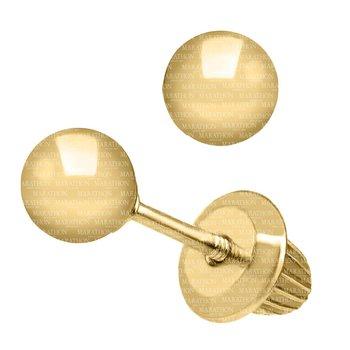 14KY 4 mm Ball Earrings