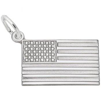 Sterling Silver USA Flag Charm