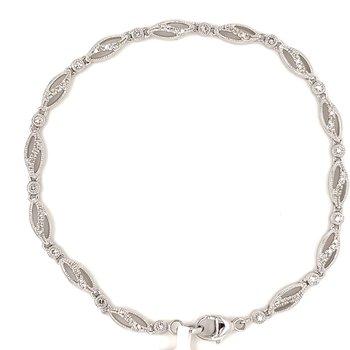 """10KW Diamond Fashion Bracelet 7"""" w/ 0.30 CTW"""