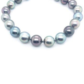 "14KW Natural Color Multi Tahitian Pearl Bracelet w/ 9 -- 11.5 mm Pearls, 8"""