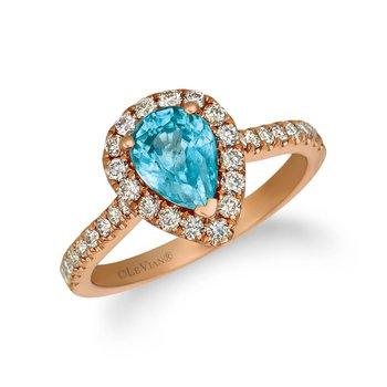 14KR Blueberry Zircon & Nude Diamond Ring w/ 1.80 ctw Zircon & 0.50 ctw Dia., Size 7